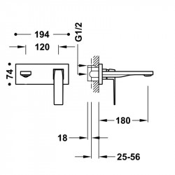 Fregadero fibra SYAN Hermes - sobre encimera - 1 seno - 560x500 Distribuidorvende