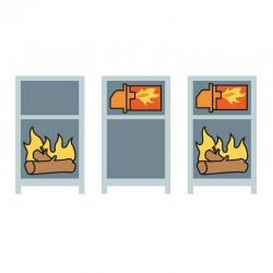 Caldera policombustible Lasian CMX 25 con quemador (leña+gasoil). Modalidades de funcionamiento.