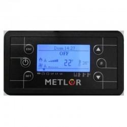 Estufa de Pellet METLOR Vicentina. Panel de control.