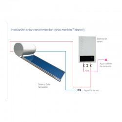 Calentador estanco FORCALI 12 litros a gas. Instalación solar con termosifón.
