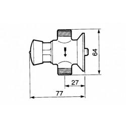 Grifo temporizado urinario PRESTO 12. Dimensiones.