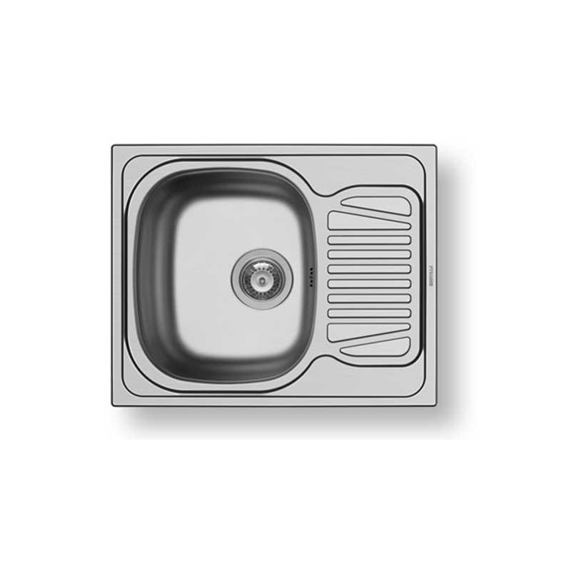 Fregadero inox SPARTA (62X50) 1B 1D Pyramis
