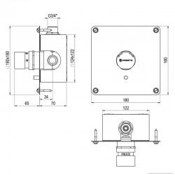 Editando: Armario cubre-calderas estancas 900x500x400 blanco Distribuidorvende