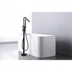 Grifo pie bañera IMEX serie Córcega. Ideal para las bañeras de isla.