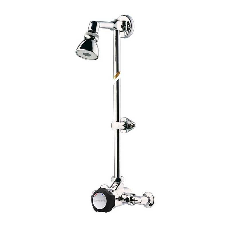 Conjunto grifo de ducha PRESTO Alpa 80 con rociador orientable (con racores)
