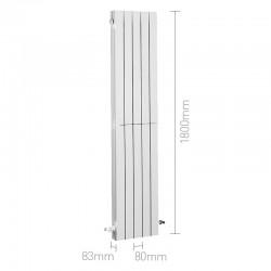 Radiador vertical de aluminio BAXI AV 1800 4 elementos. Dimensiones.