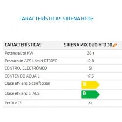 Caldera de gasoleo Domusa Sirena Mix Duo HFD 30 E. Características. Precio de fábrica.