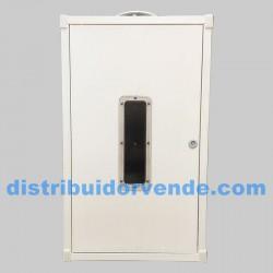Armario cubre-calentador blanco, 800x480x300.