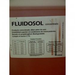 Bidón 10 litros anticongelante Fluidosol concentrado. Etiqueta.