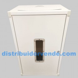 Armario cubre-calderas aluminio 800x500x400 blanco.