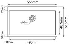 Fregadero de fibra Syan Leda. Medidas