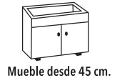 Fregadero SYAM Aton mueble 45 cm