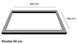 Fregadero de fibra Poalgi Shira 503. Mueble para montaje sobre encimera.