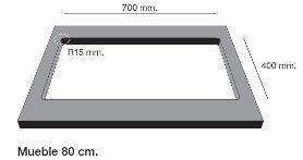 Fregadero de fibra Zie 70 de Poalgi. Mueble.