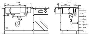 Fregadero de acero inoxidable Studio 2B de Pyramis. Montaje.